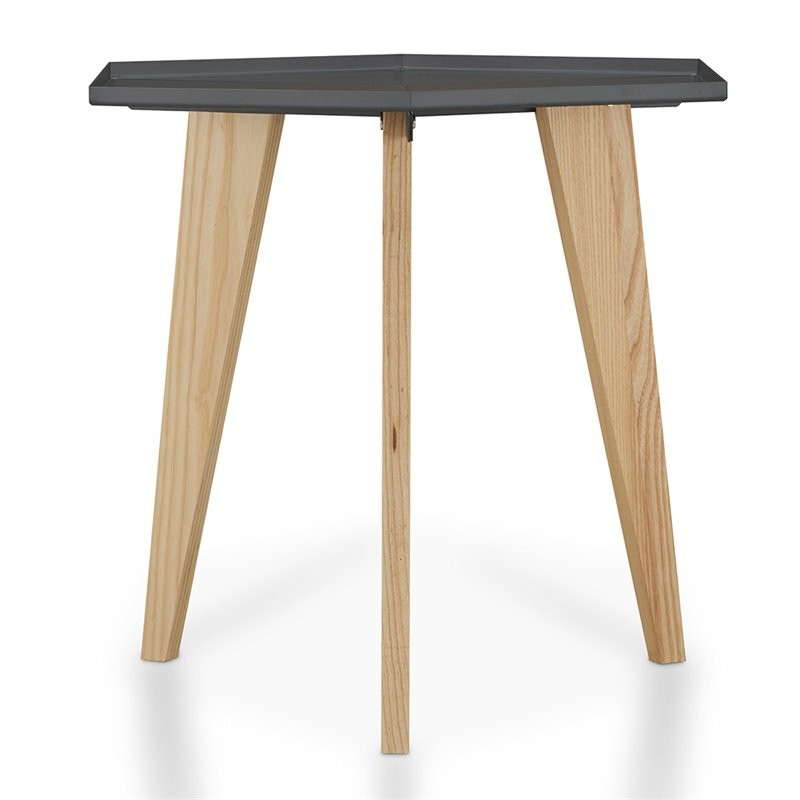 Furniture Of America Bok End Table In Gray
