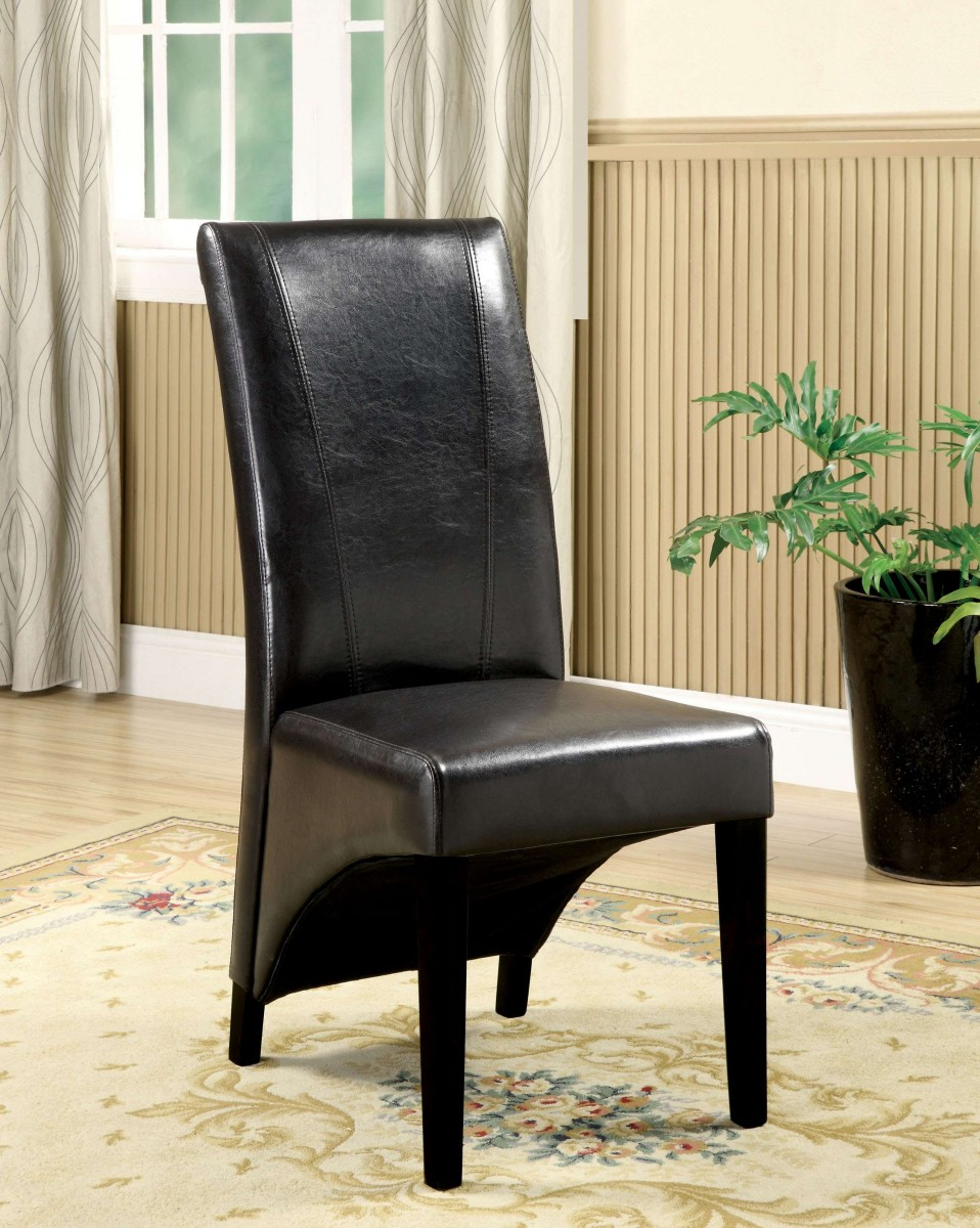 Furniture Of America Lennart Ii White Panel Bedroom Set: Furniture Of America Calinda Black Side Chair
