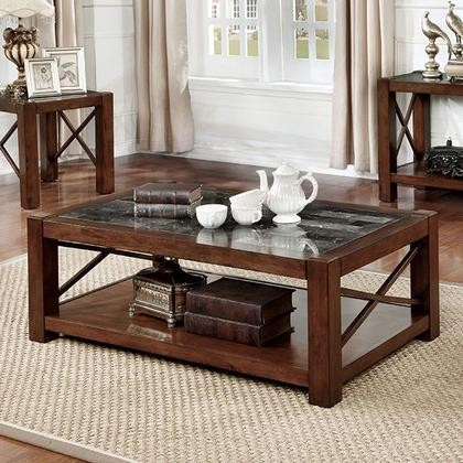Furniture Of America Rani CMC Coffee Table With Transitional - Genuine marble coffee table
