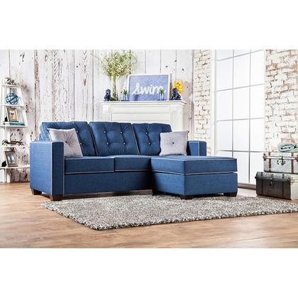 Furniture Of America Ravel II SM8852 SECTIONAL Sectional With Contemporary  Style Button Tufted Back Box Sheet ...