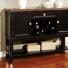 Furniture of America Dover CM3326BC-SV Server with Transitional Style  Server Storage  Solid Wood  Wood Veneer and Others in Black/Cherry