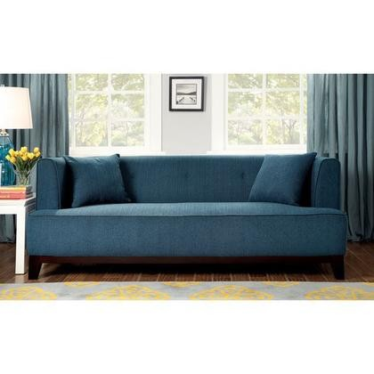 Furniture Of America Sofia Cm6761tl Sf Pk Sofa With Transitional Style T Cushion Seating Pillows Included