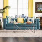 Furniture of America Turquoise SM2282-SF Sofa in Turquoise