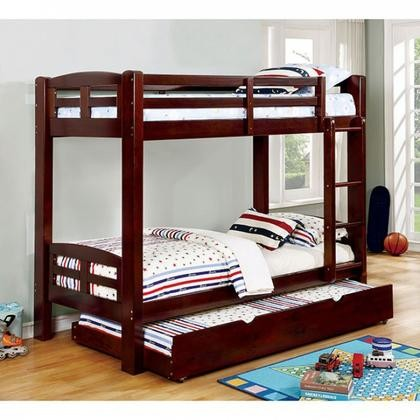 Furniture Of America Solpine Cm Bk618t Ex Bed Twin Bunk With Transitional Style Secure Top Guard Rails