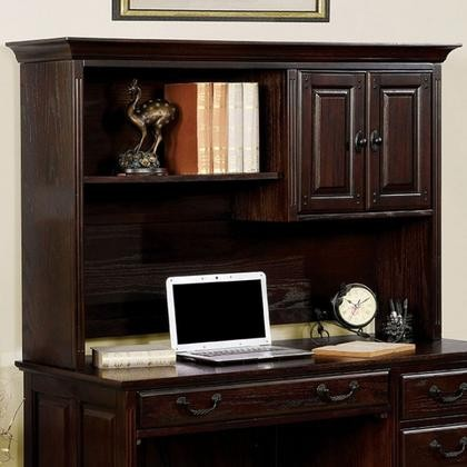 Furniture of America Tami CM-DK6384CDH Credenza Desk Hutch with  Transitional Style Multiple Drawers Antique Style ... - Furniture Of America Tami CM-DK6384CDH Credenza Desk Hutch With
