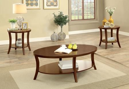 Prime Furniture Of America Paola Collection Cm4334 3Pk 3 Pc Table Set With Coffee Table And 2X End Tables In Brown Cherry Frankydiablos Diy Chair Ideas Frankydiabloscom
