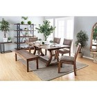 """Furniture of America Gianna CM3829T-77-TABLE 77"""" Dining Table in Rustic Pine"""