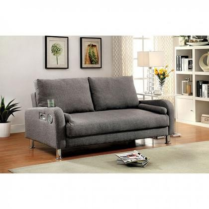 Furniture Of America Raquel CM2195 PK Futon Sofa With Contemporary Style  Converts Into Bed Solid Wood ...