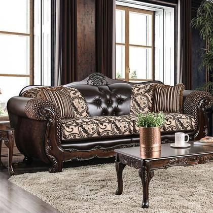 Furniture Of America Qurino Sm6416 Sf Sofa With Rolled Arms