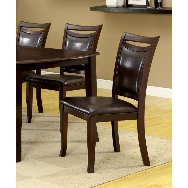 Furniture Of America Kitner Dining Chair In Dark Cherry