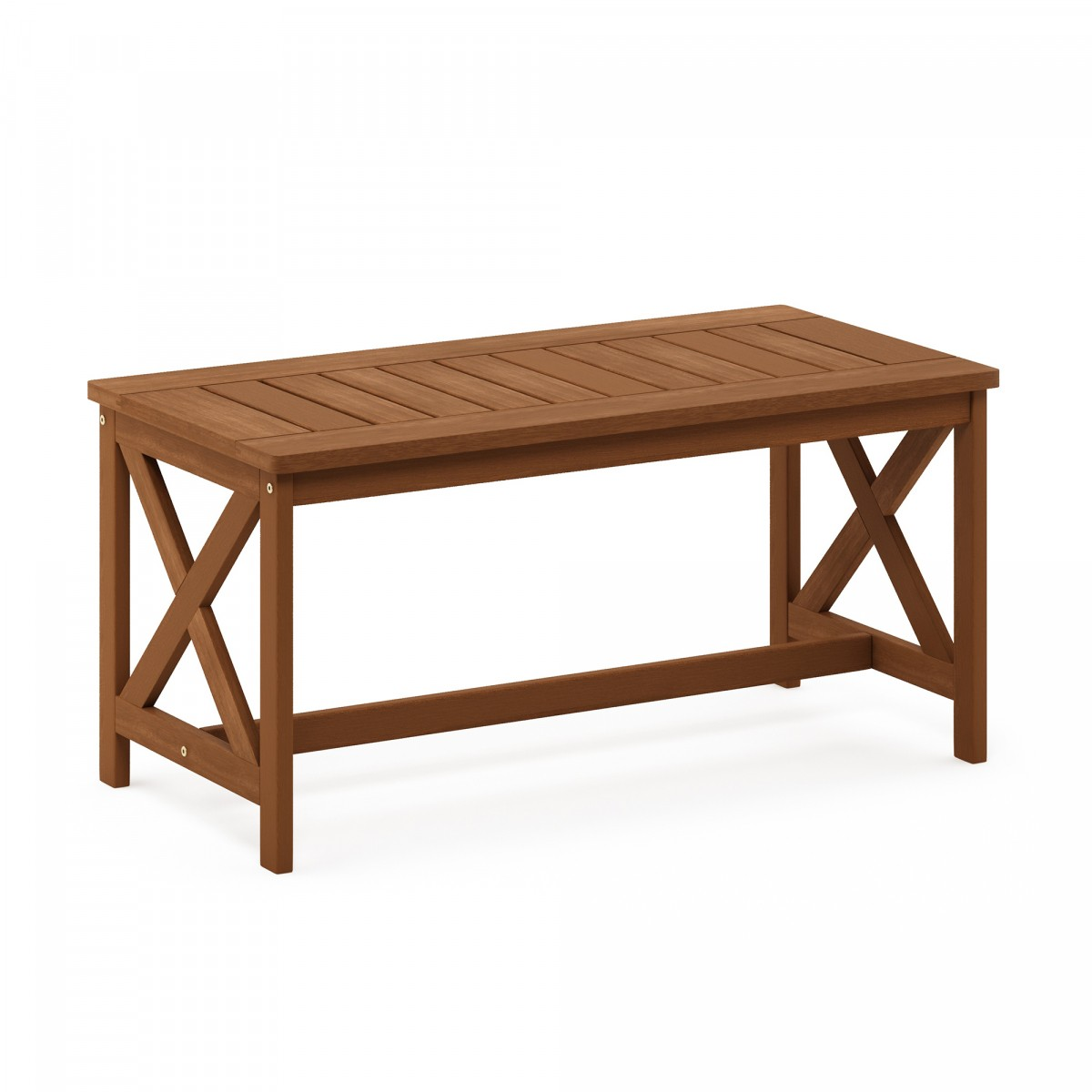 Furinno Tioman Hardwood Coffee Table with X Leg in Teak ...