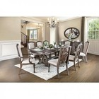 "Furniture of America Arcadia Collection CM3150TDTMS8SCAC 11-Piece Dining Room Set with 78""-96"" Extendable Dining Table  Mirror  Buffet  6x Side Chair  and 2x Arm Chair in Rustic Natural Tone"