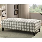 Furniture of America Chelsea Printed Fabric Ottoman in Brown