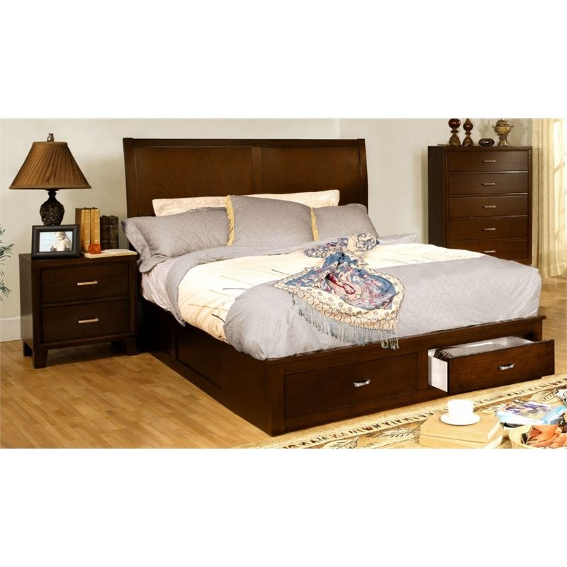 Furniture of america ruggend 2 piece storage california - California king storage bedroom sets ...