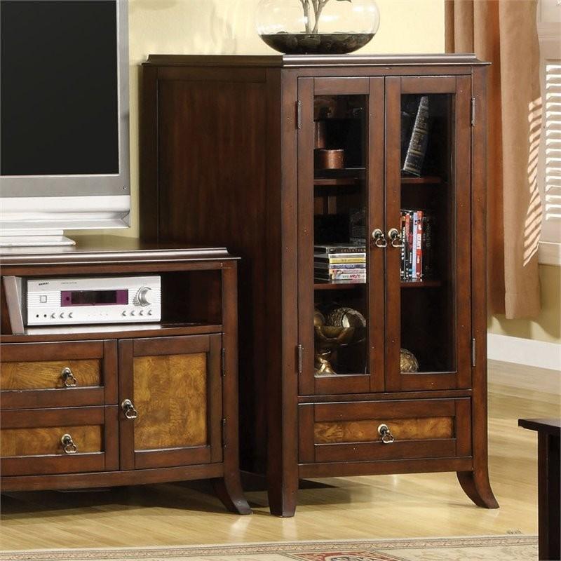 Orinda Oaks: Furniture Of America Dorinda Storage Cabinet In Brown