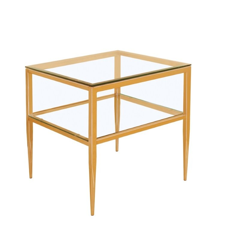 Furniture Of America Venzini Square End Table In Gold