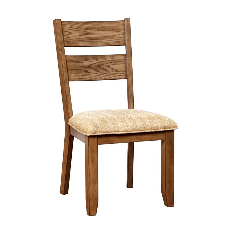 Furniture Of America Natting Dining Chair In Light Oak