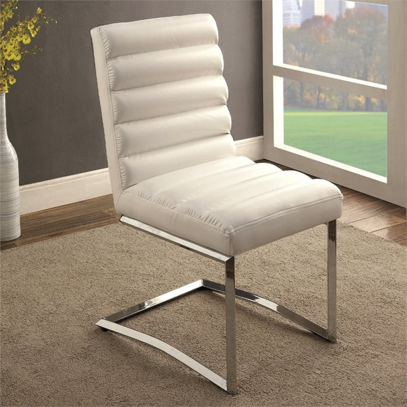 Furniture Of America Vova Dining Side Chair In White (Set