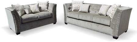 Gardena Sofa Portland Collection GDN CA 102 2 PC Living Room Set With Sofa  + Loveseat ...