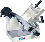 """Globe 3600N N Series 13"""" Premium Manual Slicer with PreciseEdge Knife  Adjustable Slicing Table  Premium Gear Drive System and Precision Gear Slice Thickness Adjustment in Stainless Steel"""