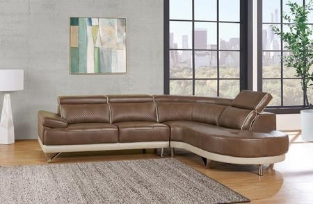Global Furniture Usa U7730 Sectional 112 2 Piece Sectional Sofa