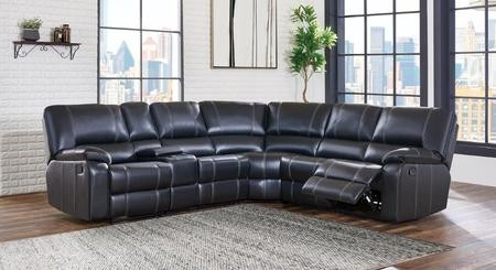 Global Furniture USA U8135 SEC 6 Piece Sectional Sofa With Left Arm Facing  Recliner Console Armless Recliner ...