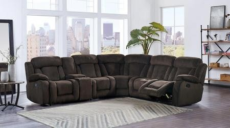 Global Furniture USA U9867 SECTIONAL 6 Piece Sectional Sofa With Left Arm  Facing Recliner Console Armless ...