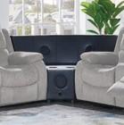 "Global Furniture USA U3118C - SUBARU MOCHA - W W/ STEREO 61"" Stereo Speaker Wedge with Bluetooth Support and PU Upholstery in Black"