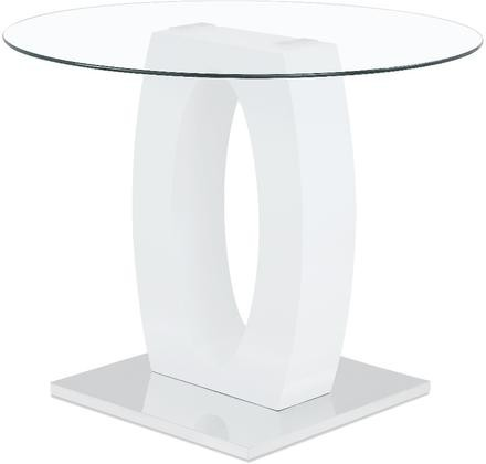 Global Furniture Usa D1660bt 47 Bar Table With Round Clear Gl Top Oval Shaped Frame Stainless