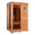 """Golden Designs GDI-3206-01 77"""" Low EMF Far Infrared Sauna with 2 Person Capacity  6 Carbon Heating Elements  2 Dynamic Speakers and Radio with MP3 Auxiliary Connection"""
