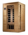 """Golden Designs GDI-6202-03 75"""" Low EMF Far Infrared Sauna with 2 Person Capacity  6 Carbon Heating Elements  Tempered Glass Door  MP3 Auxiliary Connection and Interior Reading Light"""