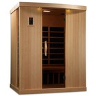 """Golden Designs GDI-6354-01 77"""" Near Zero EMF Far Infrared Sauna with 3 Person Capacity  9 Carbon Heating Elements  Carbon Panel Technology and Chromotherapy Lighting"""
