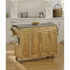 """Hawthorne Collections 49"""" Granite Top Kitchen Cart in Natural"""