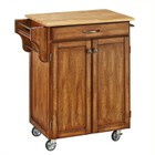 Hawthorne Collections Kitchen Cart in Cottage Oak