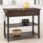 Hawthorne Collections Kitchen Cart in Chestnut