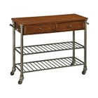Hawthorne Collections Kitchen Cart in Caramel and Gray