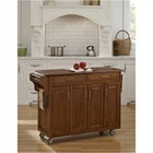 Hawthorne Collections Kitchen Cart with Oak Top in Warm Oak