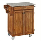 Hawthorne Collections Granite Top Kitchen Cart in Cottage Oak