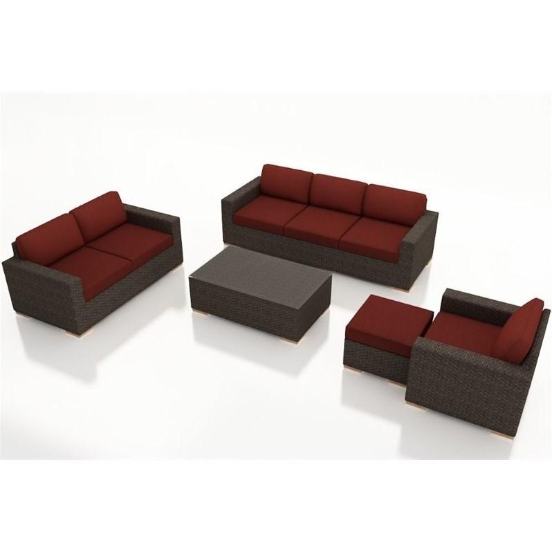 Patio Living Plus Coupon: Harmonia Living Arden 5 Piece Patio Sofa Set In Canvas Henna