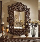 """Homey Design HD-8011M 89"""" Mirror with Intricate Carvings and Molding Details in Golden Walnut Finish"""