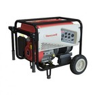 Honeywell 6037 5500 Watt Portable Electric Generator with Generac OHV Engine  5.8 Gallon Steel Fuel Tank  and Heavy Duty Wheels