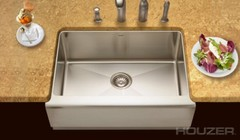 Houzer EPS-3000 Epicure Series Apron Front Farmhouse Stainless Steel Single Bowl Kitchen Sink