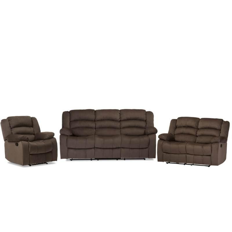 Cheap Sofa Sets: Home Square 3 Piece Recliner Sofa Set With Recliner Sofa