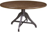 HomeFare P0012301 Weston Loft Round Table with in Brown