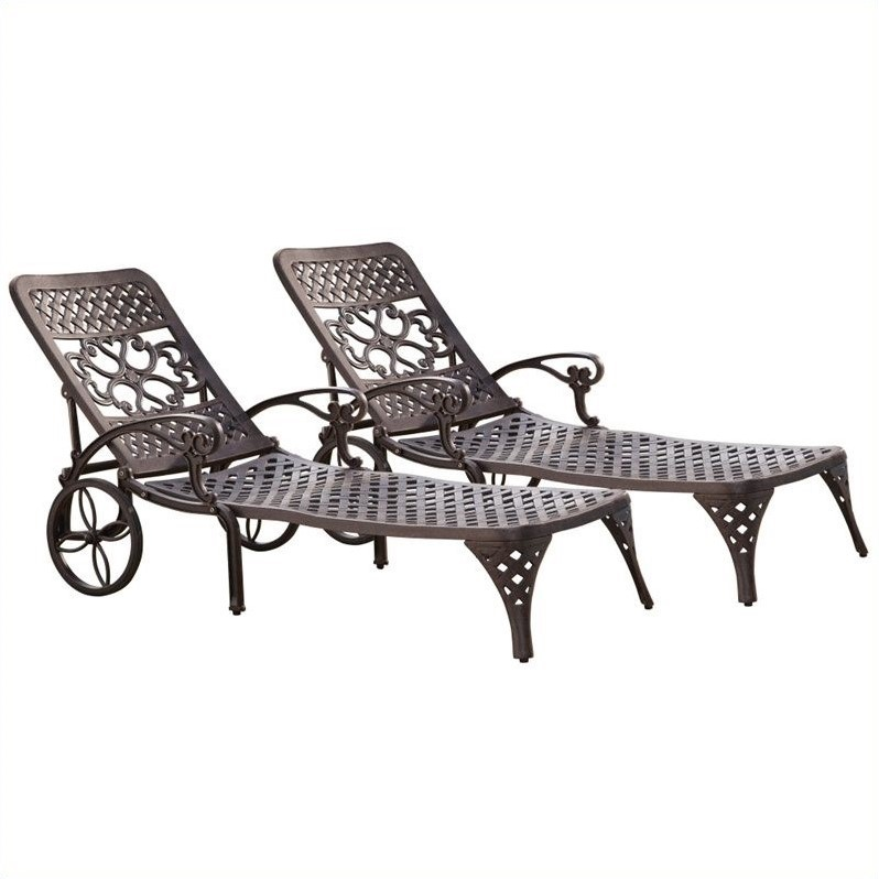 Missoni Home Cordula Easy Chair: Home Styles Biscayne Outdoor Chaise Lounge Chair In Bronze