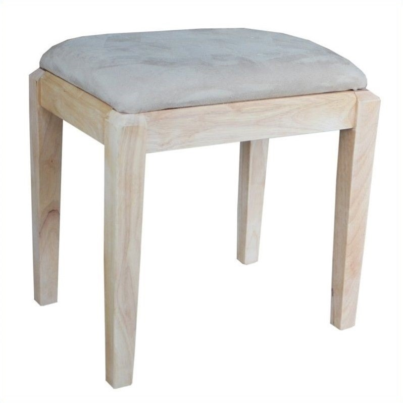 International Concepts Unfinished Bench Be 1: International Concepts Home Accents Unfinished Vanity Bench