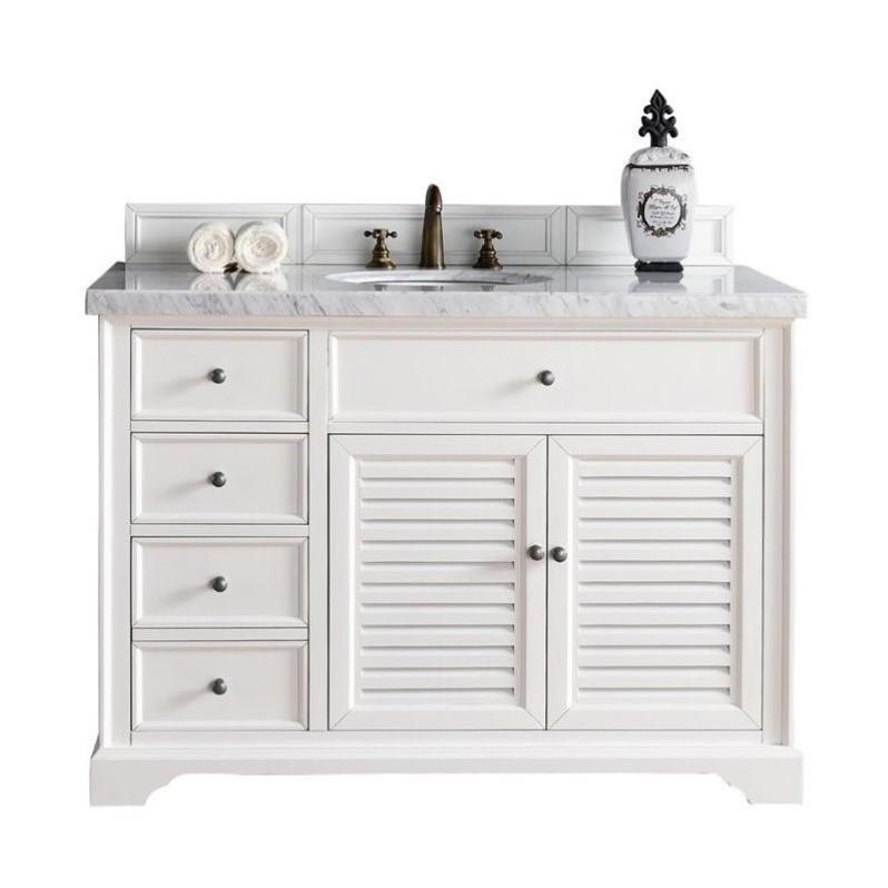 James Martin Savannah 48 Quot Single Bathroom Vanity In White No Top Discount Bandit
