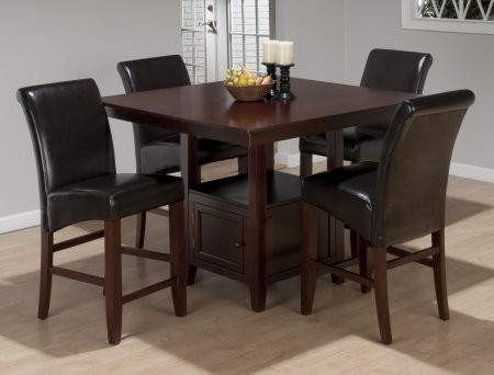 Jofran 933 48tbktset5 Tessa Chianti Counter Height Table With