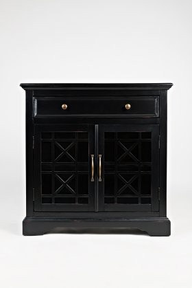 Jofran Craftsman Collection 275 32 32 Accent Cabinet With Two Glass