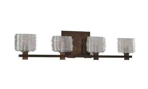 Beachcrest Home Gotha 3 Light Vanity Light Reviews: Kalco Lighting Clearwater Vintage Bronze 4-Light Bath Light